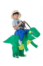 Kids Dinosaur t-rex carry me inflatable costume