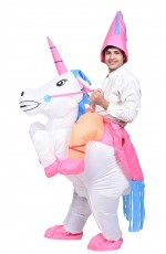 Unicorn carry me inflatable costume