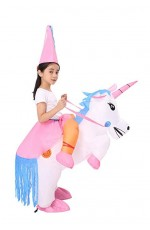 Kids Unicorn carry me inflatable costume