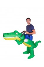 Crocodile alligator carry me inflatable costume
