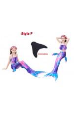 Girls Mermaid Swimmable Swimsuit Costume Monofin