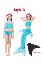 Girls Mermaid Swimmable Swimsuit Costume