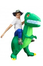 Dinosaur carry me inflatable costume