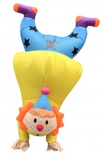 Handstand Clown Circus carry me inflatable costume