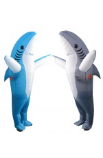 Shark carry me inflatable costume