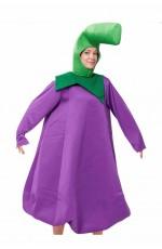 Unisex Eggplant Mascot Costume