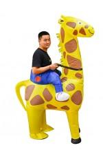 Giraffe Carry Me Inflatable Costume