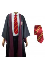 Robe with Tie Mens Ladies Harry Potter Adult Robe Costume Cosplay Gryffindor