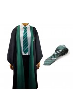 Robe with Tie Mens Ladies Harry Potter Adult Robe Costume Cosplay Slytherin