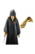 Robe with Tie Mens Ladies Harry Potter Adult Robe Costume Cosplay Hufflepuff