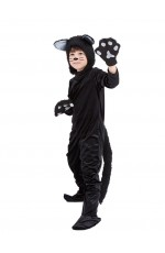 Black Cat Book Week Animal Jumpsuit Boys Girls Kids Costume Fancy Dress