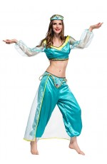 Arabian Genie Aladdin Fancy Dress Up Costume Outfit