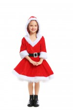 Girls Deluxe Xmas Costume