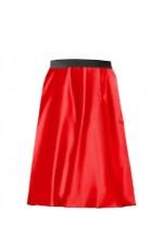 Red Satin Pencil skirt tt3084-5old