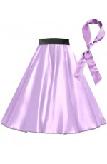 Light Purple Satin 1950's Rock n Roll Style 50s skirt