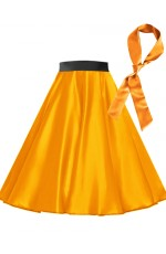 Orange Satin 1950's Rock n Roll Style 50s skirt