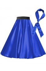 Royal Blue Satin 1950's Rock n Roll Style 50s skirt