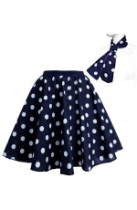 Navy With White dot 1950's Rock n Roll Dot Style skirt