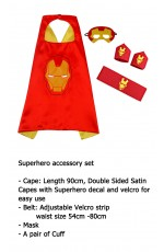 Iron man Cape & Mask Costume set