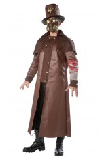 Plague Doctor Steampunk Mens Costume Womens