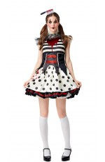 Ladies Scary Clown Zombie costume