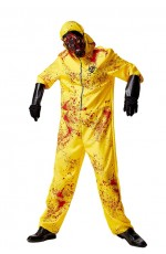 Adult Biohazard Hooded Jumpsuit Canary Yellow