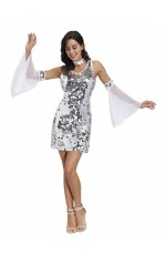 Ladies 80s Disco Ball Costume