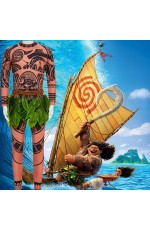 Boys Moana Maui Tattoo Kids Costume