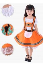 Girls Oktoberfest Orange Costume