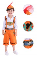 Boys Oktoberfest Orange Costume