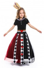 Girls Alice in Wonderland Queen of Hearts Costume