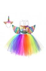 Rainbow Unicorn Tulle Tutu Dress