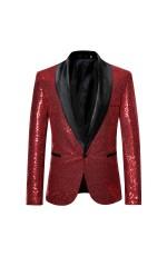 Unisex Red Tuxedo Suit Jacket Costume
