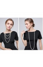 1920s 20s Long Necklace Gatsby Flapper Costume Jewellery