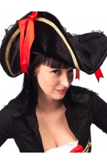 Pirate Hat Pirates Of The Caribbean Captain Jack Sparrow PRESTIGE Buccaneer Costume Accessories