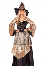 Medieval Deluxe Elegant Witch Renaissance Dress Gown Costume
