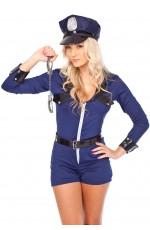 Sexy Police Cops Uniform Fancy Dress Costume