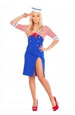Ladies Sailor Uniform Fancy Dress Costume