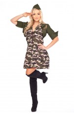 Military Police Army Soldier Fancy Dress Party Costume
