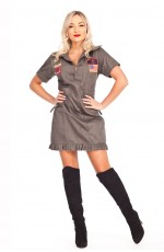 Ladies Army Top Gun Flight Costume