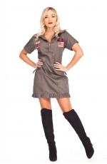 Ladies Army Top Gun Flight Costume