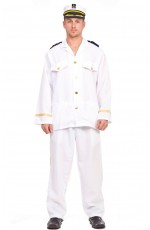 Mens Sailor Captain Fancy Dress Costume