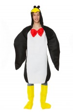 Onesies & Animal Costumes - Adult Penguin Animal Costume Funny Mens Fancy Dress Halloween Party Dress Outfit
