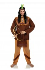 Mens Noble Warrior Native American Indian Costume