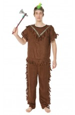Mens Warrior Native American Indian Costume