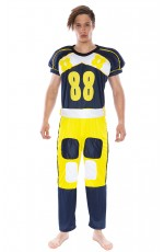 Mens American Football Player Fancy Dress Costume Jumpsuit Outfit