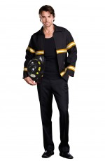 Fire Fighter Costumes - Mens Adult Fireman Fire Fighter Uniform Fancy Dress Costume Halloween Outfit