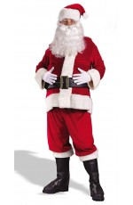 Santa Claus Christmas Costumes - Flannel Santa Claus Suit Clause Christmas Xmas Fancy Dress Adult Costume (