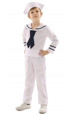 White Sailor Kids Uniform Boy Costume