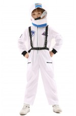 Child Astronaut Space NASA White Costume